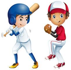 Kids playing baseball