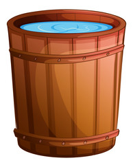 A big bucket of water