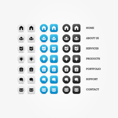 Multipurpose set of vector web icons for business.