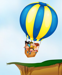 Kids in balloon
