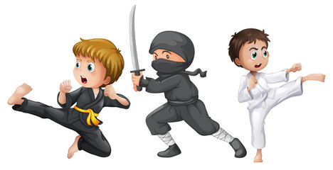Three brave fighters