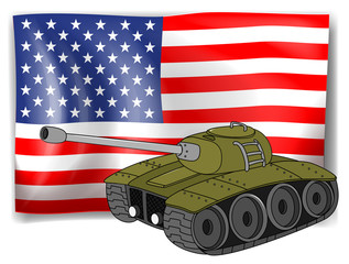 Flag and tank