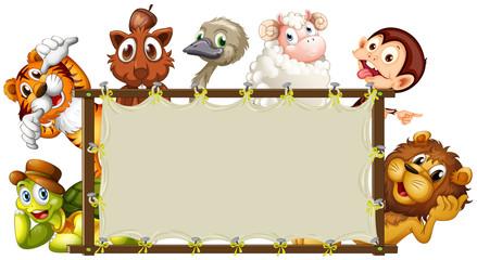 Mixed animals banner