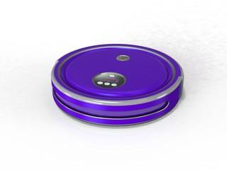 Robot vacuum cleaner 3d render