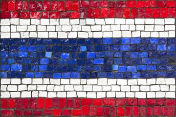 Mosaic flag of Thailand