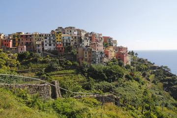 Village of Corniglia, at Cinque Terre, Italy