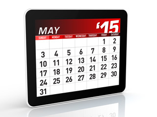 May 2015 - Calendar