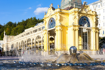 Wall Mural - Colonnade with Singing fountain, Marianske Lazne (Marienbad), Cz