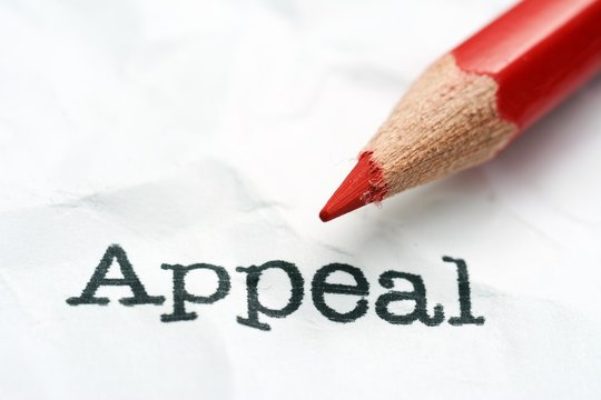 Appeal text and pencil