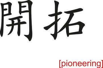 Chinese Sign for pioneering