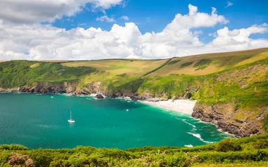Fototapete - Lantic Bay Cornwall England