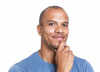 Portrait of a mixed race man looking confidently to camera