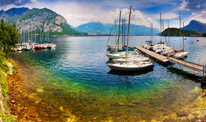 Yacht Club in the town of Limonta in Lake Lecco.