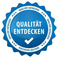 Qualität entdecken - blau