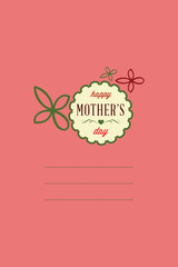 Vector illustration with mothers day and