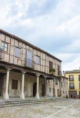 Famous Plaza Mudejar style, with arcades (Plaza de la Villa) Are