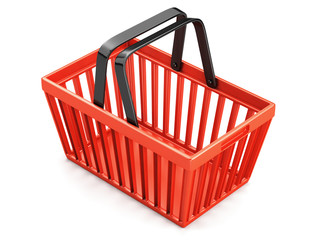 Sopping basket isolated