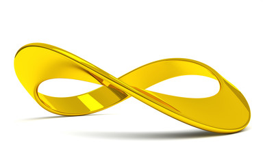 3D illustration of infinity symbol