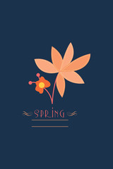 Vector illustration with spring flower and