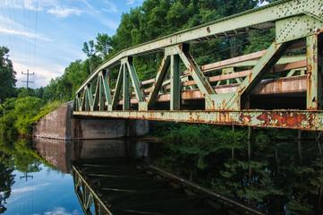 Old rusty bridge.