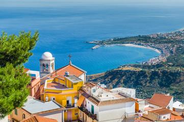 Taormina town landscape. Fototapete