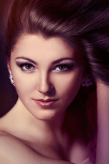 Beauty Model Girl. Beautiful face model