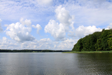 Wolken über Mecklenburgischen Seenplatte
