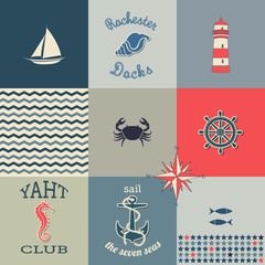 Nautical Icons Poster