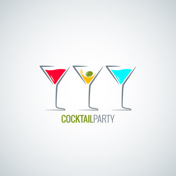 cocktail party glass menu background