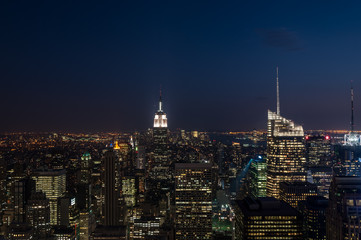 Night view of Manhattan.
