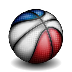 French basket ball, vector