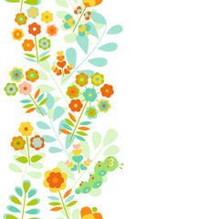Seamless floral border background