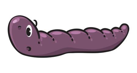 Funny crawling worm
