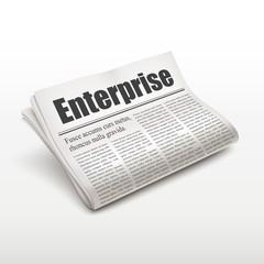 enterprise word on newspaper