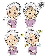 おばあさんの感情セット