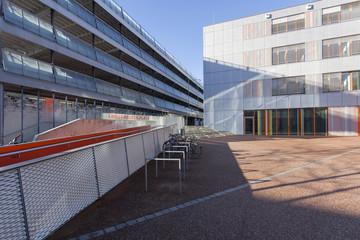 Parkhaus und neue Stadtbücherei in Augsburg