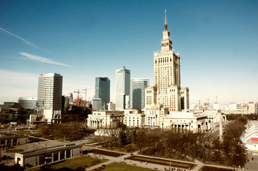 Fototapeta palace of culture and science landmark of Warsaw