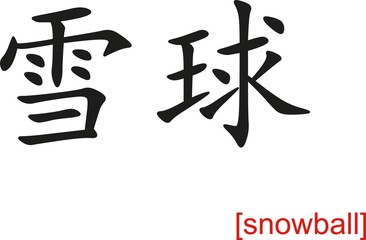 Chinese Sign for snowball