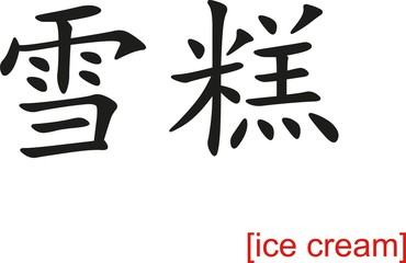Chinese Sign for ice cream