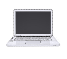 Laptop. Wire frame
