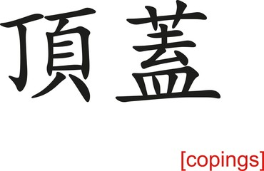 Chinese Sign for copings