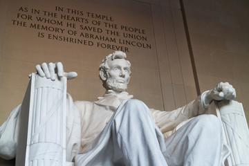 The statue of Abraham Lincoln, Lincoln Memorial, Washington DC Fotomurales