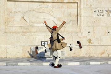 Photo sur Aluminium Athenes Changing guards near parliament at Athens