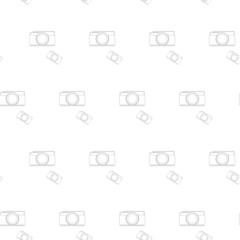 seamless pattern vintage camera, vector eps10