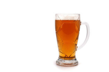 A glass with beer isolated on the background