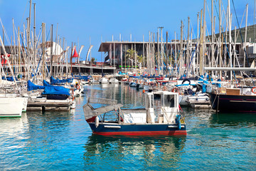 Seaport. Yachts.