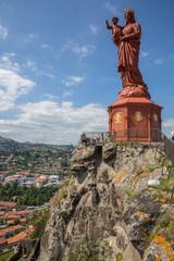 Le Puy-en-Velay : Statue Notre-Dame de France, Rocher Corneille
