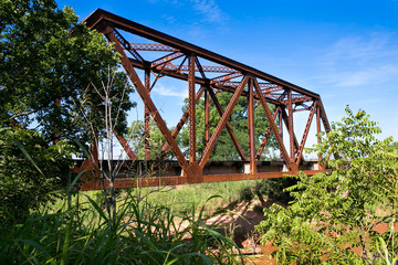 Old Railroad Bridge Crossing a Creek
