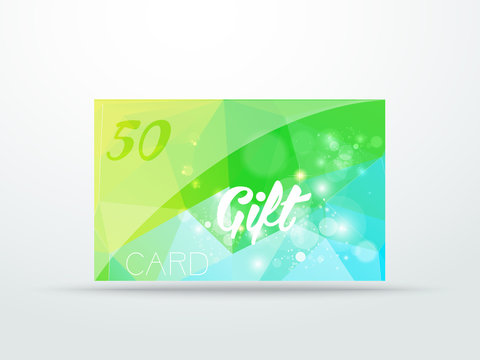 Gift greeting card  lime green glitter with shine