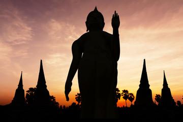 Statue on twilight time